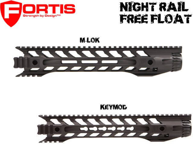 Fortis Night Rail AR15 Free Float Handguard Choose 10