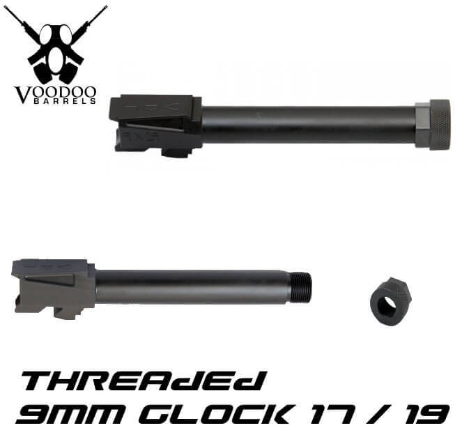 Voodoo Glock 17 Threaded Barrel Melonited Innovations VDIBRL-9MM-G17-THREADED