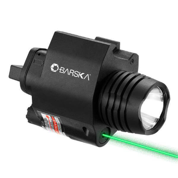 Barska Green Laser w 200 Lumen LED Flashlight AR15 Pressure Pad