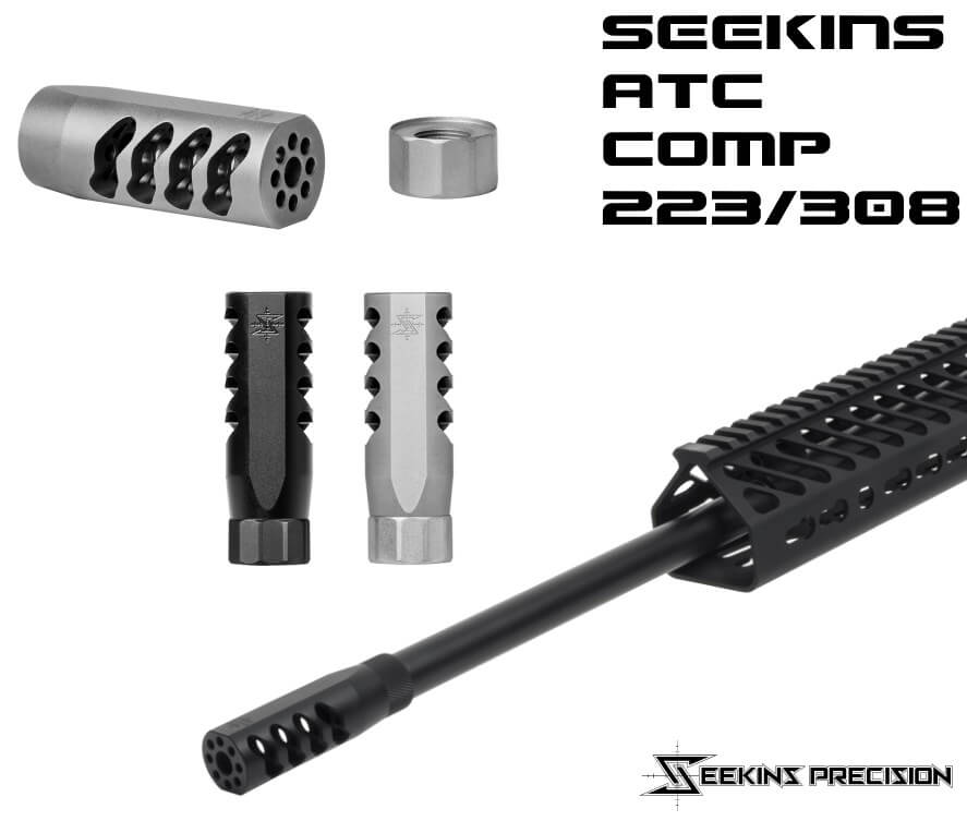 Seekins Precision SP ATC AR15 Silver Advanced Tactical Compensator 5.56 AR-15