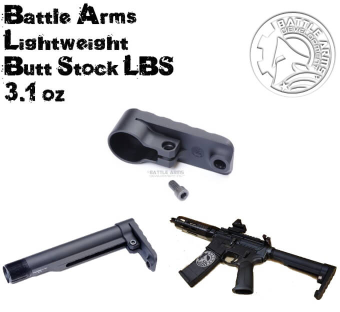 BattleArms BAD-LBS-MIL Lightweight Butt Stock for MilSpec Tube