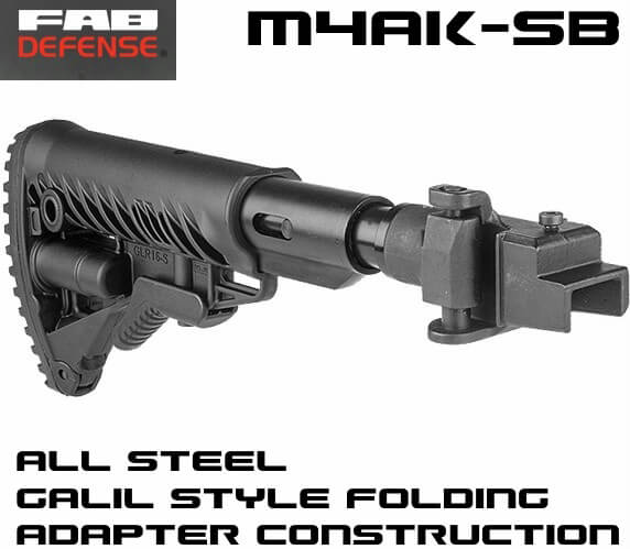 FAB Galil-Style Recoil Reducing Folding Collapsible AK47 Stock