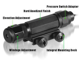 UTG Tactical W/E Adjustable Green Laser + Mount & Pressure Pad
