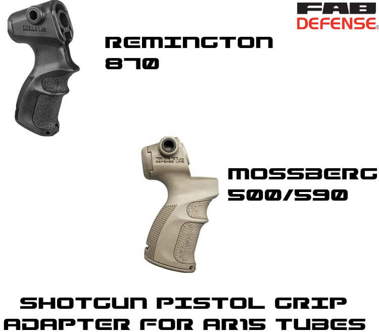 Shotgun Pistol Grip Mossberg 500/590 Remington 870 to AR15 Stock