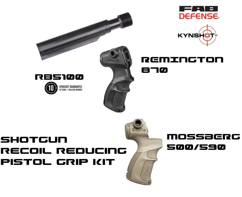 Kynshot Shotgun Recoil Reducing Hydraulic Buffer Pistol Grip Kit