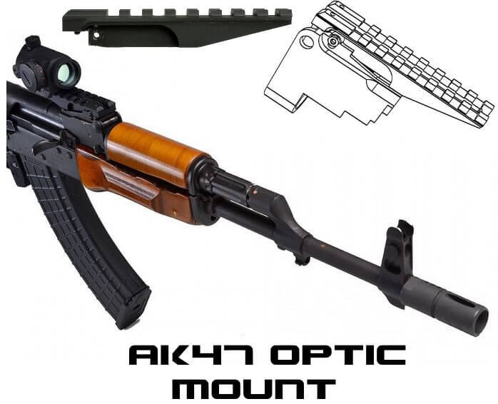 Strike Industries SI-AKRR AK Rear Sight Picatinny Rail AK47 Red Dot