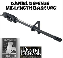 DANIEL DEFENSE Mid AR15 Stripped Upper Receiver Group Midlength M16