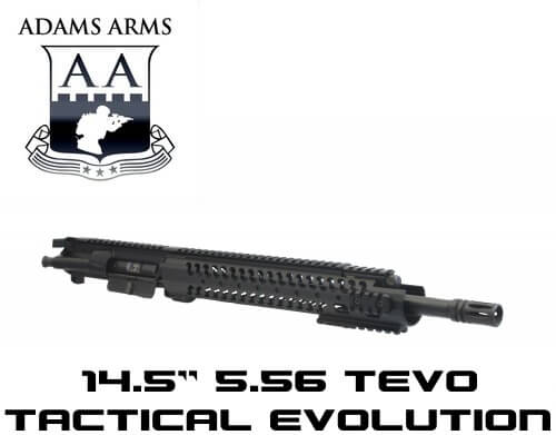Adams Arms 14.5 Mid Tactical Evo Upper Piston AR15 Railed Gas UA-14.5-M-TEVO-556