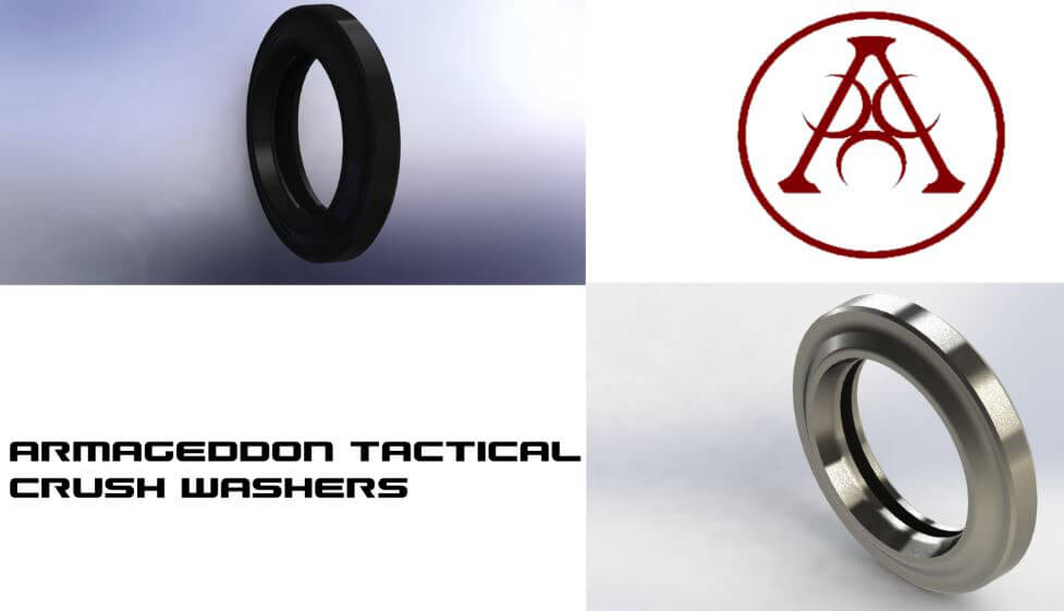 Armageddon Crush Washer AR15 4140 Steel Black or Stainless AR-15