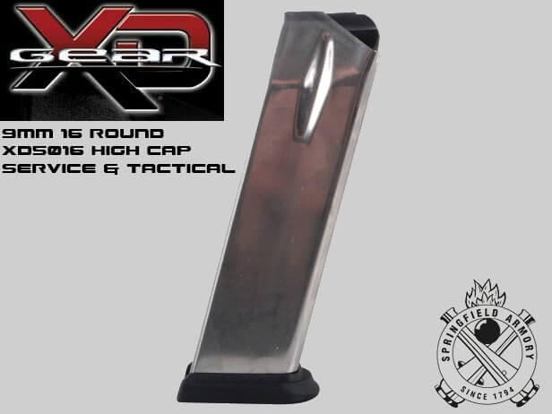 Springfield Armory Magazine XD 9MM 16-Round Stainless Steel