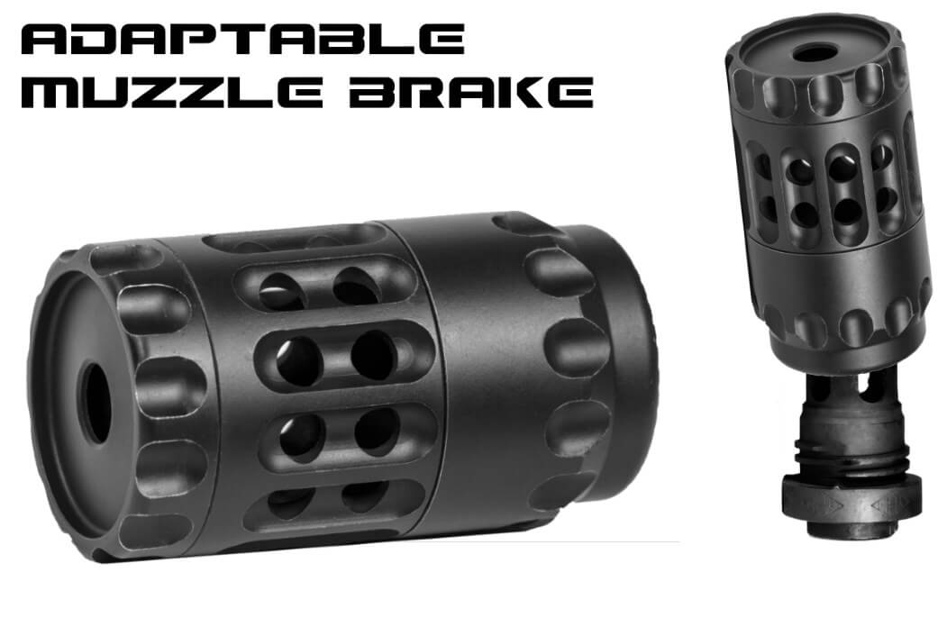 YHM QD Suppressor Mount Adaptable Brake Assembly AR10 AR15