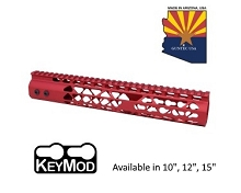 Guntec USA Red Air Lite Keymod Free Float Handguard