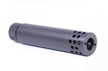 Guntec USA Large Port Fake Can Muzzle Brake Compensator Barrel Extension AR10 AR15 AR-15