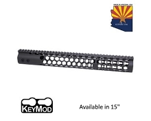 Guntec USA Black Air Lite Series Honeycomb Keymod Free Float Handguard