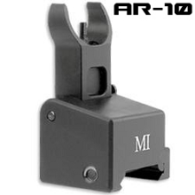 MI Gas Block Mounted Front Flip Up Sight BUIS AR10 Midwest