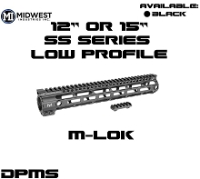 Midwest Industries SS M-LOK Low Profile DPMS 308 Free Float Handguard MI MLOK