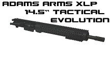 Adams Arms 14.5 Mid Tactical Evo Upper XLP Concealed Piston AR15 UA-14.5-M-XLP-TEVO-556