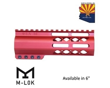 Guntec USA Red AIR-LOK Series M-LOK Compression Free Float Handguard