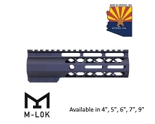Guntec USA Black AIR-LOK Series M-LOK Compression Free Float Handguard