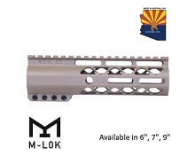 Guntec USA Flat Dark Earth AIR-LOK Series M-LOK Compression Free Float Handguard