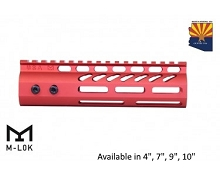 Guntec USA Red Ultra Lightweight Thin M-LOK Free Float Handguard