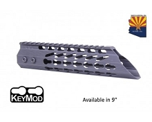 Guntec USA Black Ultra Slimline Octagonal 5 Sided Keymod Free Float Handguard W/ Slant Nose