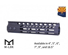 Guntec USA Black Ultra Slimline Octagonal 5 Sided M-LOK Free Float Handguard