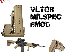 VLTOR EMOD Milspec Tan Dark Earth Enhanced Modstock AR15 AR-15
