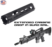 UTG PRO AR15 Extended Carbine Length Drop-in Quad Rail AR-15 Car USA Made