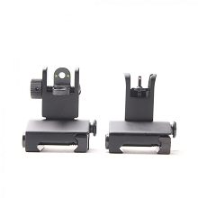 Tiger Rock AR15 Fiber Optics Flip Up Sight Set Front & Rear AR-15 Sights Red and Green Dots