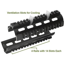 XTS Midlength Two Piece DROP-IN Handguard QUAD RAIL Sytem Mid AR15 AR-15