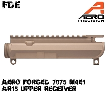 Aero Precision FDE M4E1 Threaded Stripped Upper Receiver AR15 AR-15