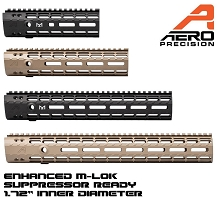 Aero Precision Suppressor Ready AR15 Enhanced M-LOK AR-15 MLOK Handguard Gen 2