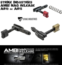 Strike Industries Ambi Enhanced Magazine Catch AR15 AR-15 AR10 Mag Release