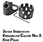 Strike Industries SI-AR-ECN&EEP-BLK AR15 Enhanced Castle Nut & Plate BLACK