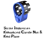 Strike Industries SI-AR-ECN&EEP-BLU AR15 Enhanced Castle Nut & Plate BLUE