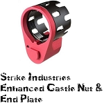 Strike Industries SI-AR-ECN&EEP-RED AR15 Enhanced Castle Nut & Plate RED