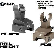 MI Rail Mounted Front Flip Up Sight BUIS AR15 Midwest
