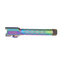 Faxon Glock 17 Barrel Flame Fluted Threaded Chameleon Rainbow 416-R Nitride Match Series Gen 1-5 Drop In