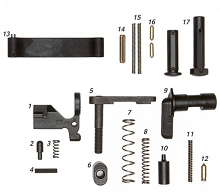 Geissele Standard Duty Lower Parts Kit, No Grip LPK