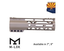 Guntec USA Gen 2 Flat Dark Earth AIR-LOK Series M-LOK Compression Free Float Handguard