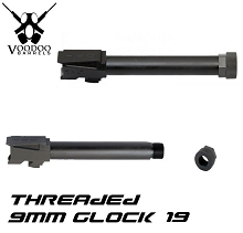 Voodoo Glock 19 Threaded Barrel Melonited Innovations VDIBRL-9MM-G19-THREADED