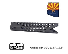 Guntec USA O.D. Green Ultra Slimline Octagonal 5 Sided Keymod Free Float Handguard W/ Shark Mouth