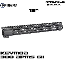 "Midwest 15"" DPMS GII 308 Rifle KeyMod One Piece Free Float Handguard"