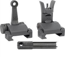 Midwest Industries Combat Rifle Sight Set MI Rail Mounted Flip Up BUIS AR15