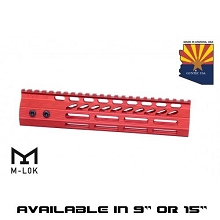 Guntec USA Red Ultra Slimline Octagonal 5 Sided M-LOK Free Float Handguard