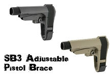 SB Tactical Adjustable AR15 Pistol Brace SB3 Collapsible AR SBA3