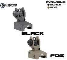 Midwest Industries Low Profile Rear Flip Up Iron Sight SPLP AR15 MI