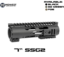 Midwest MI-SS7G2 Gen2 SS-Series One Piece Free Float Handguard 7