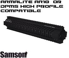 Samson .308 Quad Rail for DPMS High Profile or Armalite AR10 Two Piece Free Float Handguard